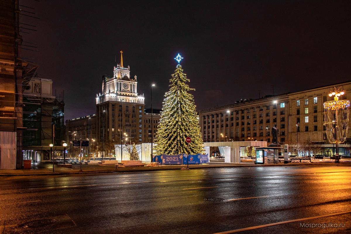 Новогодняя ёлка на Триумфальной площади