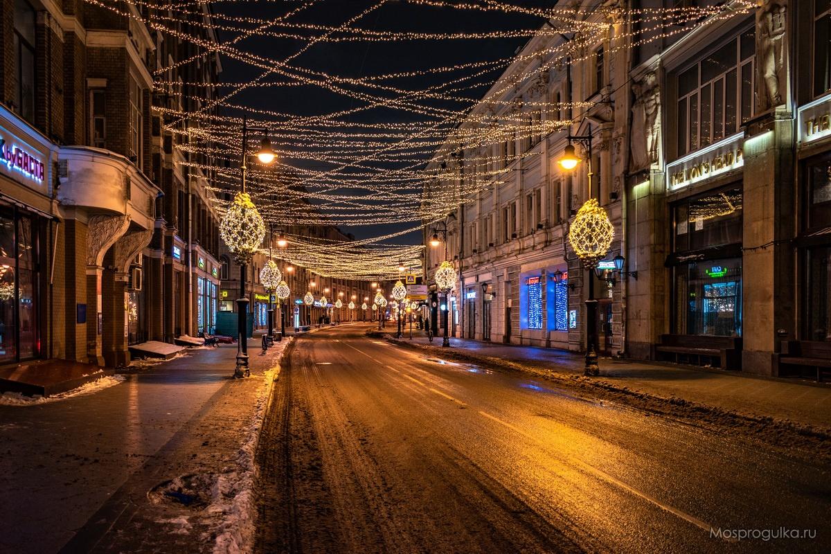 Звёздное небо на Мясницкой улице