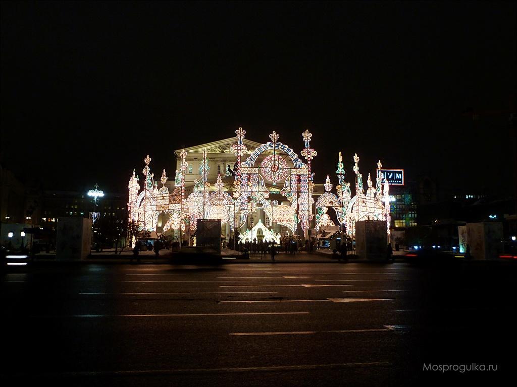 Рождественский свет 2015-2016: световая корона на Театральной площади